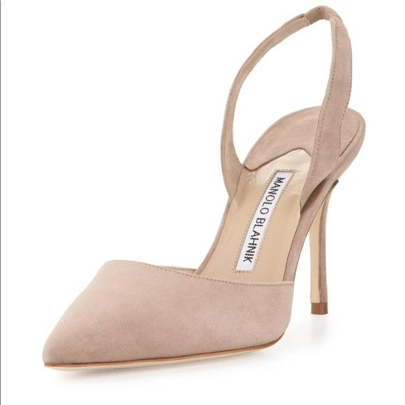 b740bdfddc Manolo Blahnik Shoes   Carolyne 90 Suede Slingbacks 38   Poshmark